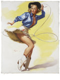 Mainstream Illustration, GIL ELVGREN (American 1914 - 1980). On Her Toes, 1954. Oilon canvas. 30 x 24 in.. Signed lower left. ...