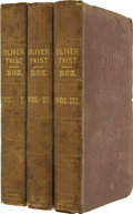 """Books:First Editions, Charles Dickens. Oliver Twist. By Charles Dickens. Author of""""The Pickwick Papers."""" In Three Volumes. London: Ri... (Total: 3Items)"""