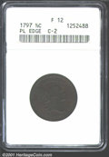1797 1/2 C Plain Edge Fine 12 ANACS. B-2a, C-2, R.4. The strike is not perfectly centered, but all major design elements...