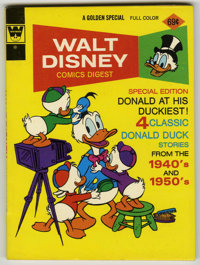 Walt Disney Comics Digest #44 Signed by Carl Barks (Gold Key, 1971) Condition: NM-
