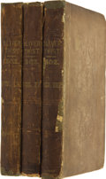 "Books:First Editions, [Charles Dickens]. Oliver Twist; or, The Parish Boy'sProgress. By ""Boz."" In Three Volumes. London: Richard Bent...(Total: 3 Items)"