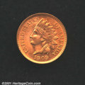 1909 1C MS64 Red Uncertified. Flaming red color and very close to full Gem status