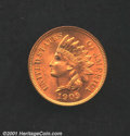 1909 1C MS64 Red Uncertified. A lovely, full red coin that has a few specks of carbon on each side which account for the...