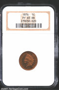 1876 1C PR65 Red and Brown NGC. Nicely subdued elements appear to float on a volcanic sea of orange crystal color. The b...