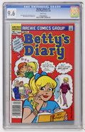 Modern Age (1980-Present):Humor, Betty's Diary #1 (Archie, 1986) CGC NM+ 9.6 White pages....
