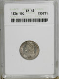 Bust Dimes: , 1836 10C XF45 ANACS. NGC Census: (6/152). PCGS Population (9/128).Mintage: 1,190,000. Numismedia Wsl. Price for NGC/PCGS c...
