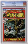 Bronze Age (1970-1979):Horror, Fear #10 (Marvel, 1972) CGC NM 9.4 White pages....