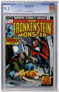 Bronze Age (1970-1979):Horror, Frankenstein #9 (Marvel, 1974) CGC NM- 9.2 Off-white to whitepages....