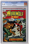 Bronze Age (1970-1979):Horror, Werewolf by Night #4 (Marvel, 1973) CGC NM 9.4 White pages....