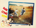 "Movie Posters:Sports, Babe Comes Home (First National, 1927). Lobby Card (11"" X 14"")...."