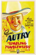 "Movie Posters:Western, Tumbling Tumbleweeds (Republic, 1935). One Sheet (27"" X 41"")...."