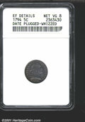 1794 H10C --Date Plugged, Whizzed--ANACS. XF Details, Net VG8. V-4a, LM-4, R.4. Both sides have retoned in predominantly...