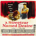 "Movie Posters:Drama, A Streetcar Named Desire (Warner Brothers, 1951). Six Sheet (81"" X81"")...."