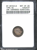 1794 H10C --Corroded, Scratched--ANACS. XF Details, Net VF20. V-4, LM-4, R.4. The obverse presents well despite a pair o...