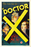 "Movie Posters:Horror, Doctor X (First National, 1932). One Sheet (27"" X 41"")...."