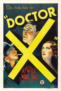 "Doctor X (First National, 1932). One Sheet (27"" X 41"")"
