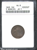 Early Dimes: , 1805 10C 5 Berries