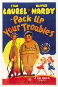"Movie Posters:Comedy, Pack Up Your Troubles (Film Classics, R-1940s). One Sheet (27"" X41"")...."