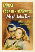 "Movie Posters:Drama, Meet John Doe (Warner Brothers, 1941). One Sheet (27"" X 41"")...."