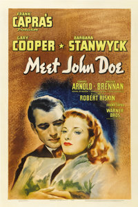 "Meet John Doe (Warner Brothers, 1941). One Sheet (27"" X 41"")"
