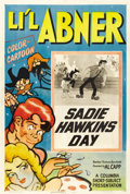 "Movie Posters:Animated, Li'l Abner Cartoon Poster (Columbia, 1944). One Sheet (27"" X 41"") ""Sadie Hawkin's Day.""..."