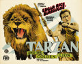 "Movie Posters:Adventure, Tarzan and the Golden Lion (FBO, 1927). Title Lobby Card (11"" X 14"")...."