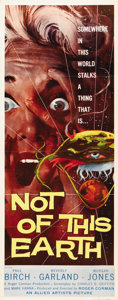 "Movie Posters:Science Fiction, Not of this Earth (Allied Artists, 1957). Insert (14"" X 36"")...."