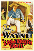 "Movie Posters:Western, Sagebrush Trail (Monogram, 1933). One Sheet (27"" X 41"")...."