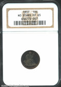 Proof Seated Dimes: , 1837 10C NO STARS