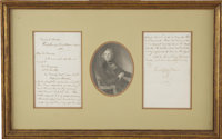 Charles Dickens. Autograph Letter Signed with initials by Charles Dickens to Mrs. [Georgiana] Morson, 3 December 1852