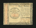 Colonial Notes:Continental Congress Issues, Continental Currency January 14, 1779 $40 Extremely Fine-AboutNew....