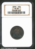 Proof Seated Quarters: , 1859 25C