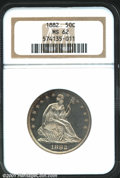 1882 50C MS62 NGC. WB-101. Normal Date. Mostly brilliant, the devices are snow-white and contrast strongly against the d...
