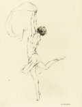 Prints:American, WARREN B. DAVIS (American, 1865-1928). Leaping Nymph, 1928.Drypoint etching. 7-3/4 x 6 inches (19.7 x 15.2 cm). Signed ...