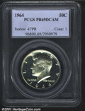 1964 50C PR69 Deep Cameo PCGS. Essentially perfect with frosty devices, deeply mirrored fields, and untoned surfaces