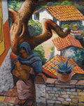 Fine Art - Painting, American:Modern  (1900 1949)  , EDMUND KINZINGER (German/American, 1888-1963). Woman in Taxco,Mexico, 1937. Oil on canvas laid on masonite. 18 x 14-1/2...