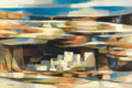 Fine Art - Painting, American:Contemporary   (1950 to present)  , DEFORREST JUDD (American, 1916-1992). Cliff Dwelling, 1956.Oil on board. 24 x 36 inches (61.0 x 91.4 cm). Signed and da...