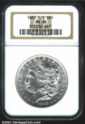 1882-O/S $1 MS64 NGC. Brilliant luster with slight central weakness and a sharply defined undermintmark