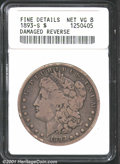 1893-S $1--Damaged Reverse--ANACS. Fine Details, Net VG8. A mark worth noting above the eagle's head and others on the r...