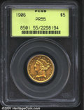 Proof Liberty Half Eagles: , 1906 $5