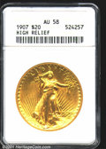High Relief Double Eagles: , 1907 $20 HIGHRELIEF