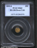 California Fractional Gold: , 1855/4 25C BG-106