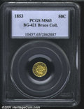 California Fractional Gold: , 1853 50C BG-421