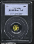 California Fractional Gold: , 1853 50C BG-428