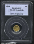 California Fractional Gold: , 1853 $1 BG-523