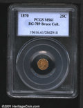 California Fractional Gold: , 1870 25C BG-789
