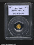 California Fractional Gold: , 1876 25C BG-799
