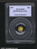 California Fractional Gold: , 1871 25C BG-839