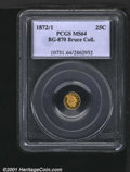 California Fractional Gold: , 1872/1 25C BG-870