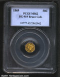 California Fractional Gold: , 1869 50C BG-919